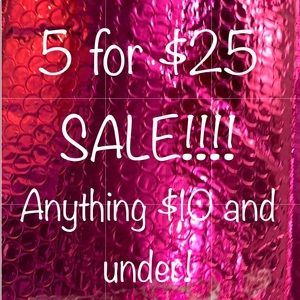 5 for $25 sale!